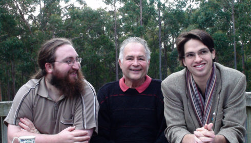 From right: Gideon, Robert and Michael Cordover, taken a few weeks before Robert's passing.