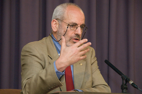 Photo of Alex Wodak speaking at the Castan Centre for Human Rights Law