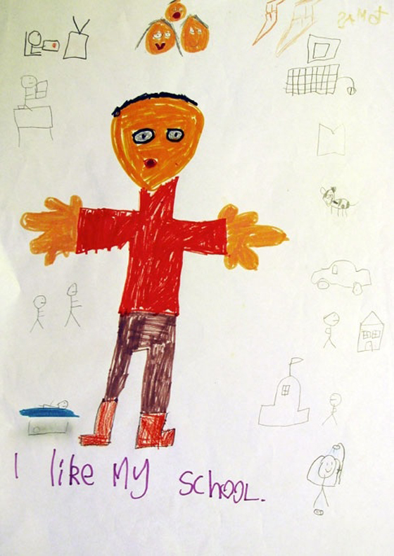 "Child's drawing ""I like my school"""