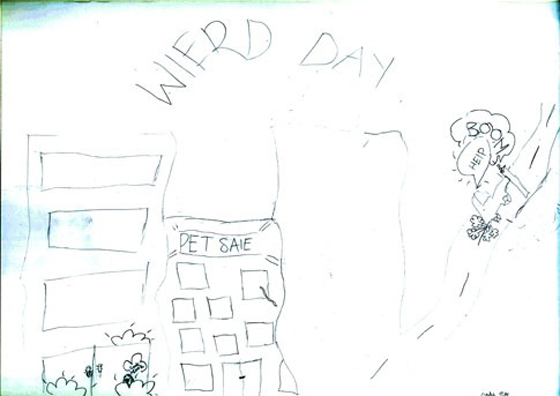 "Child's picture ""Weird Day"""