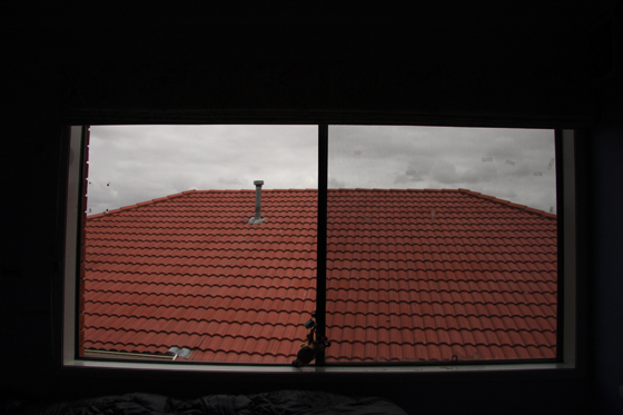 roof through house window