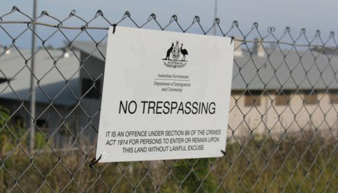 Photo of No Trespassing Sign North West Point Detention Centre, Christmas Island