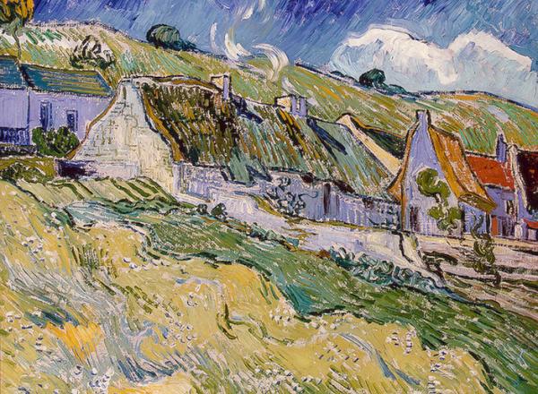 Thatched Cottages, Vincent Van Gogh