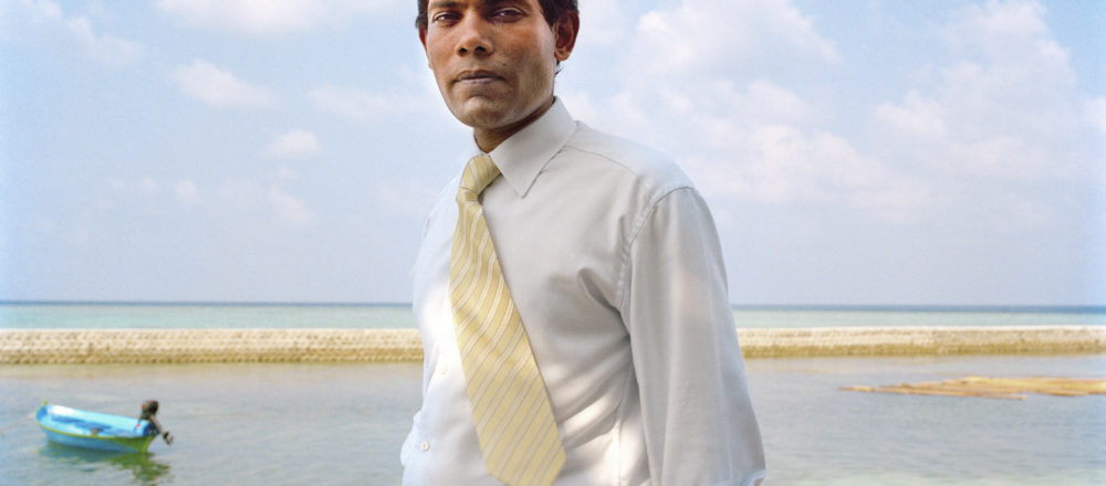 """Still image from """"The Island President"""""""
