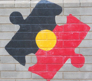 Aboriginal Flag Puzzle Piece