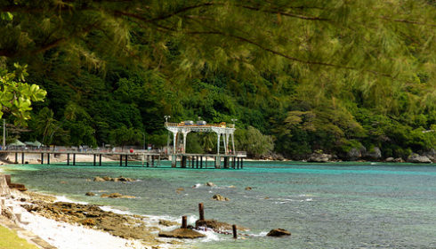 Jetty on the shores of Christmas Island