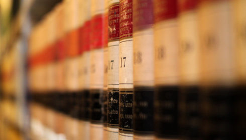 Photo of old law books