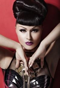 Photo of Viktoria Modesta, close-up face