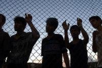 Asylum seekers fenced in