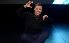 Photo of deaf writer Stef Linder