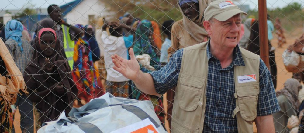 Photo of Tim Costello at the Dadaab Refugee Camp in Kenya courtesy of World Vision Australia