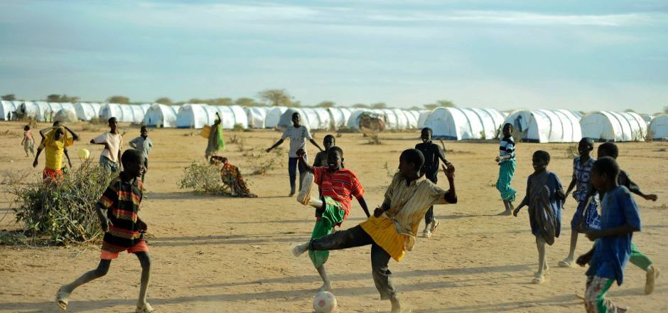 Somali refugees play at a camp in Kenya. AFP: Tony Karumba