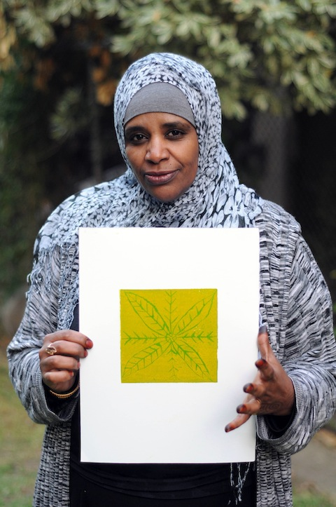 Artist Khanya Ibrahim. Photo by Tamaryn Goodyear. Courtesy of The Ownership Project.
