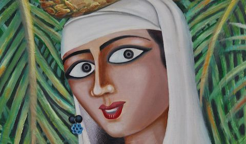 New Life and Old Memory - Amer Rashad (Iraq) - Oil on Canvas