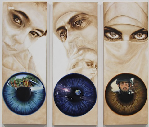 What is seen; Cannot be unseen - Hailtam Petrous Dawood (Iraq) - Oil on Canvas