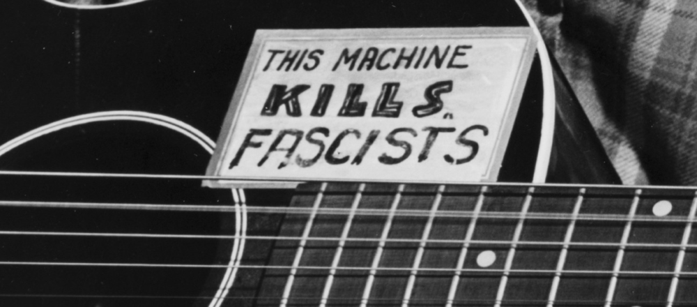 "Woody Guthrie's ""This Machine Kills Fascists"" guitar"