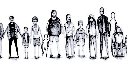 '17 People' by Nebula - ink on paper - 2013