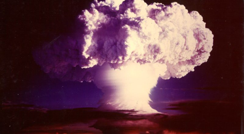 atomic bomb, mushroom cloud, nuclear weapons
