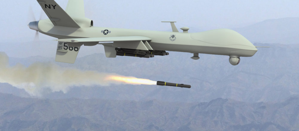 Photo of Predator drone firing missile