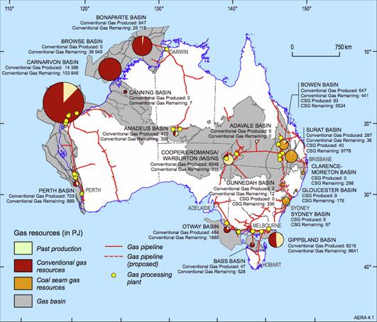 Coal seam gas map