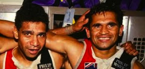 Gilbert McAdam and Nicky Winmar