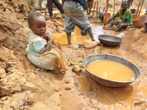 gold mine child girl labour