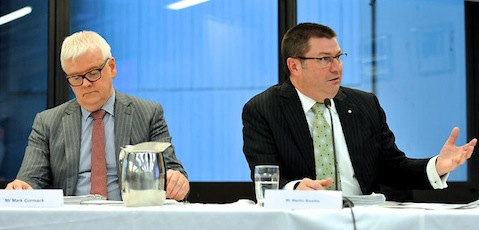 The Department of Immigration and Border Protection's Mark Cormack and Martin Bowles.