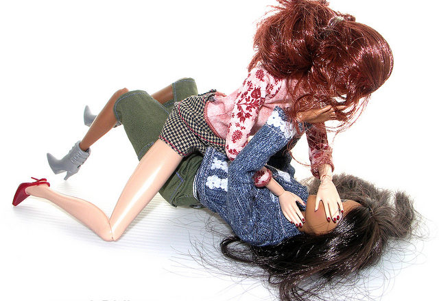 Flickr: Sebastyne Young, Barbie cat fight