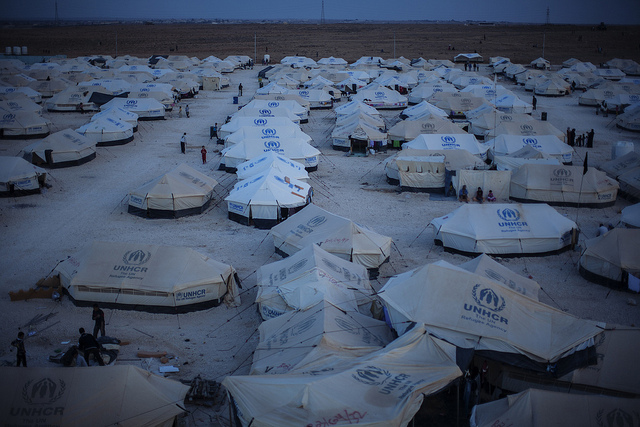 Za'atari refugee camp, Jordan. Photo: UNHCR/Brian Sokol