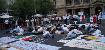 Ayotzinapa protest, Sydney Australia,