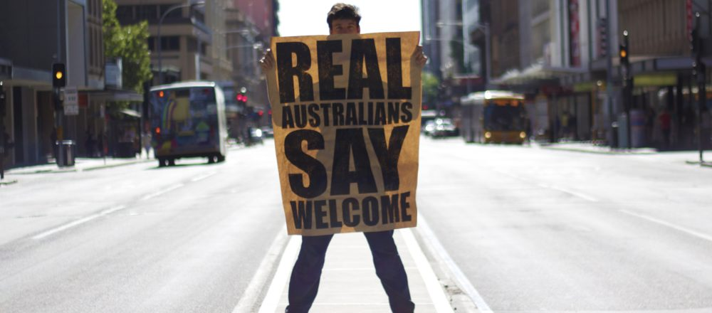 cover peter drew real australians say welcome poster