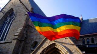 church rainbow flag