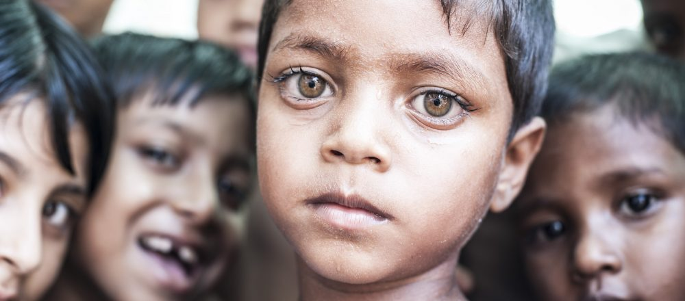 Rohingya children.