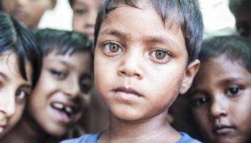 Rohingya children.