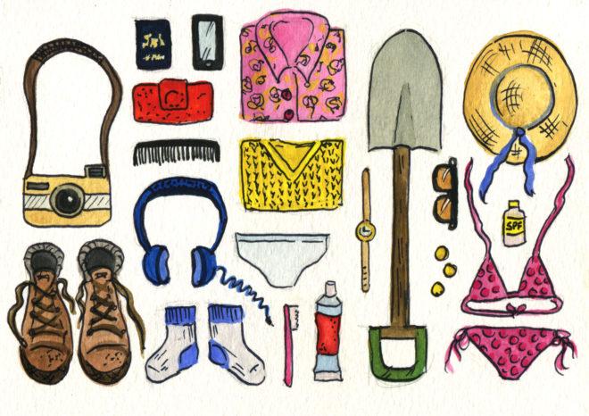Amy Devereux illustration travel volunteer