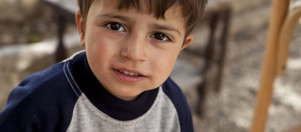 Syrian refugee child