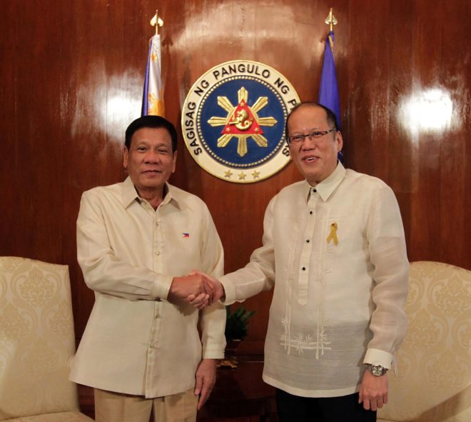 Duterte and Aquino