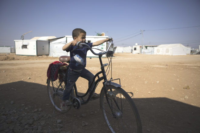 Syrian boy in Zaatari Camp