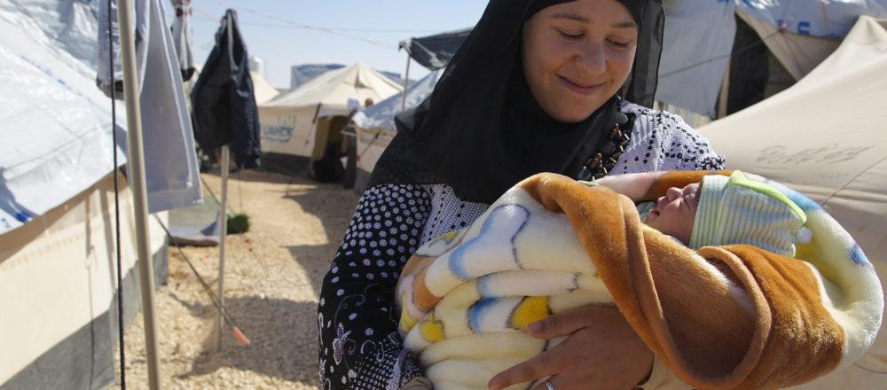 Syrian woman in Za'atari camp
