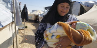 Syrian woman in Za'atari camp