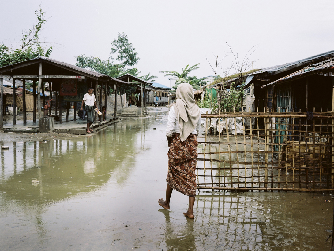 'Rohingya girl pumping water for the family' - Since fighting erupted in 2012, many Rohingya communities have been attacked and burnt to the ground, while those located in the state's capital, Sittwe, have been forcibly moved into nearby IDP camps. Those who remain in their villages are subject to violent attacks by militant Buddhists and the Myanmar Government Army, also known as the Tatmadaw.