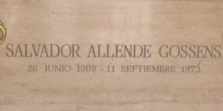Allende's tomb poem
