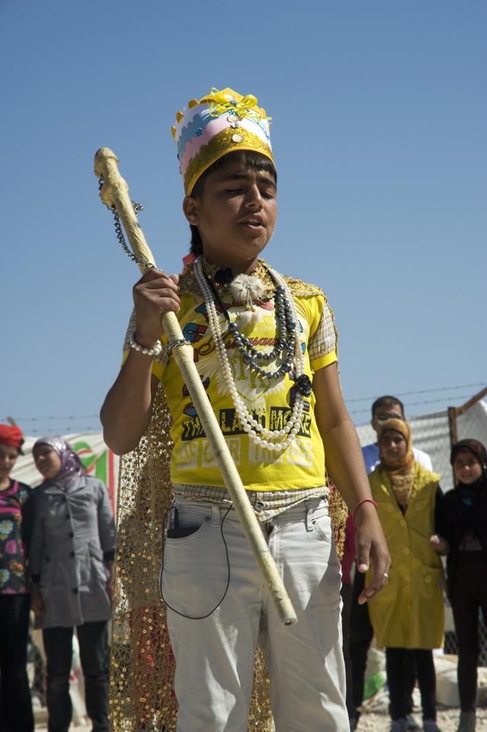 Majd Ammari as King Lear in Zaatari