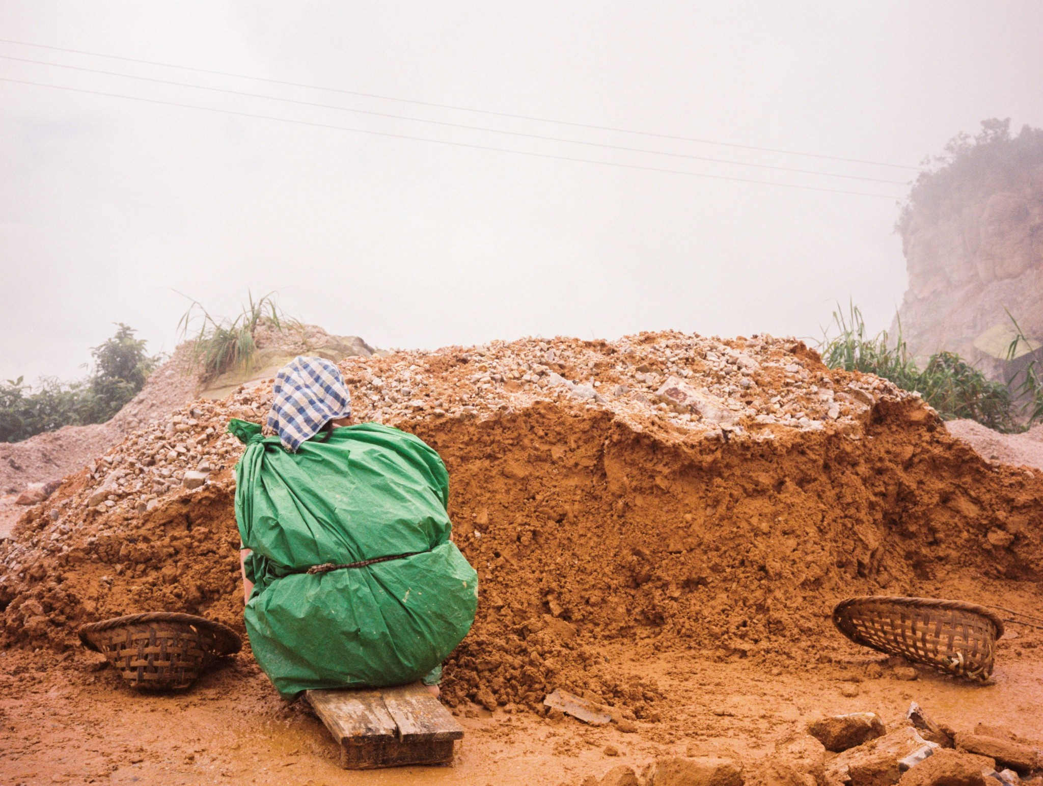 Due to the oppressive poverty of the region, the Khasi are employed to break rock by hand for shipment to Bangladesh.
