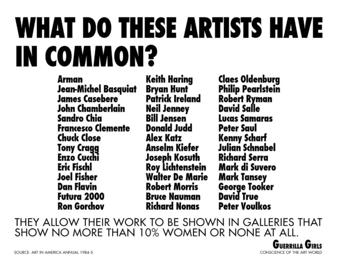 Courtesy guerrillagirls.com