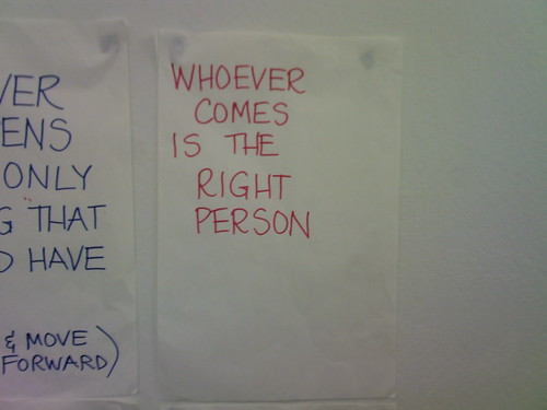 whoever comes is the right