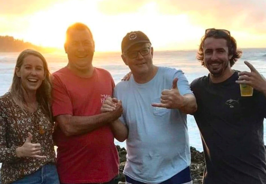 The PM on holiday in Hawaii