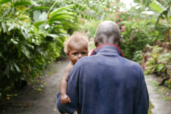 Family values - such as the relationship between grandparents and grandchildren - are held in high value in Vanuatu.