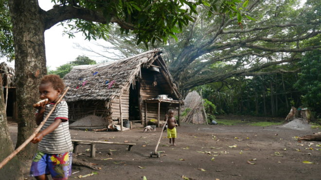 The village of Ireupuow, in Tanna Island, which is steadfastly holding on to their traditional way of life and kastom (culture).