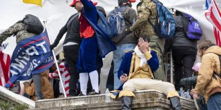 rioters at the Capitol in Jan 2021